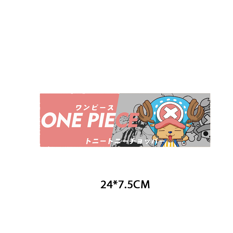 Anime ONE PIECE Patch Iron on Transfer Letter Patches for Kids Clothing DIY Heat Transfer Vinyl Chopper Luffy Sticker on Clothes in Patches from Home Garden