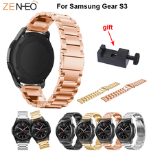 Stainless Steel wristband straps for Samsung gear S3 Classic/Frontier/Galaxy Watch 46mm Metal Strap Watchband With Adjust Tool