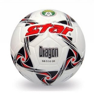 Free shipping! High quality Match use Star Soccer Ball/Football Size 4 SB514-26 DRAGON Gift: gas pin & net bag