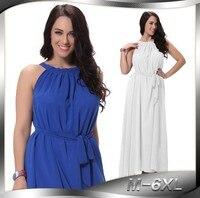 Hot Sale Plus Size Sexy Sweet Chiffon Dress Women Maxi Beach Dress Casual Summer Long Dress