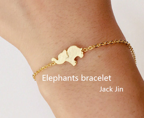 New trendy personalized animal Africa elephant love bracelet gold rose gold silver plated carter love bracelet manchette