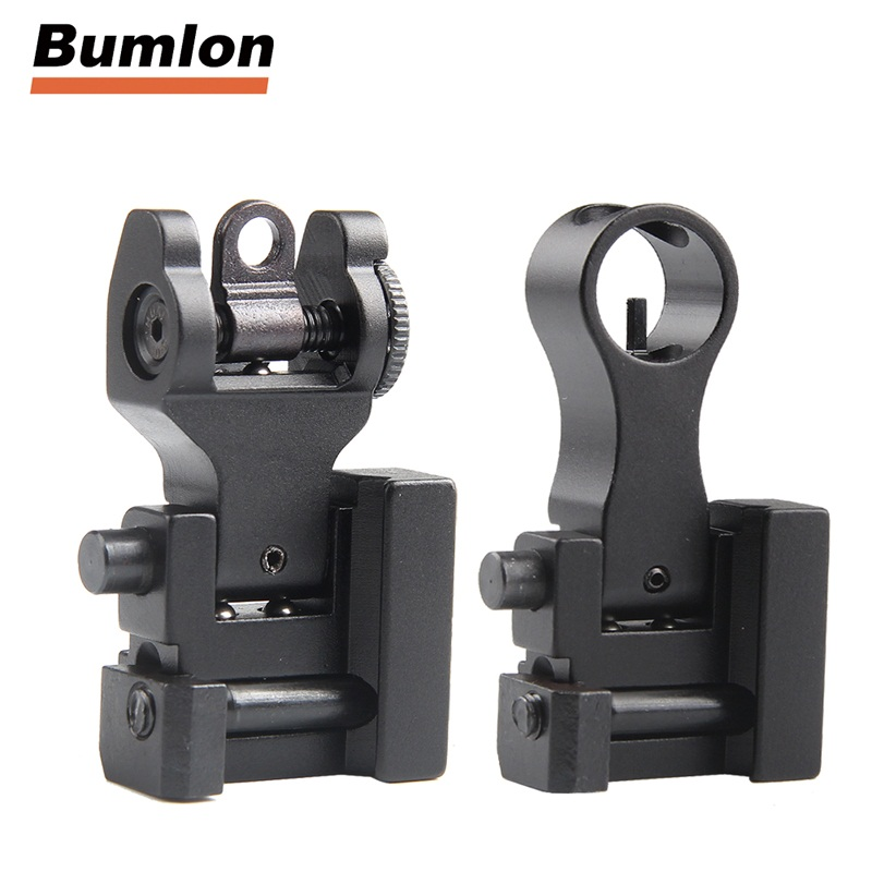 Rear Sight Front for Tactical Hunting Airsoft Gun Accessories Front Rear Sight AR 15 AR15 Offset Backup Rapid Transition BUIS|Riflescopes| |  - title=