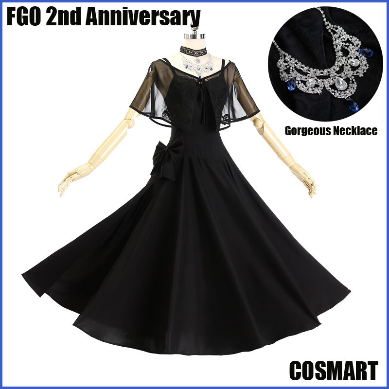 [STOCK]+Necklace Game Fate Grand Order FGO 2nd Anniversary Jeanne d'arc Uniform Black Dress Halloween Cosplay costume free ship