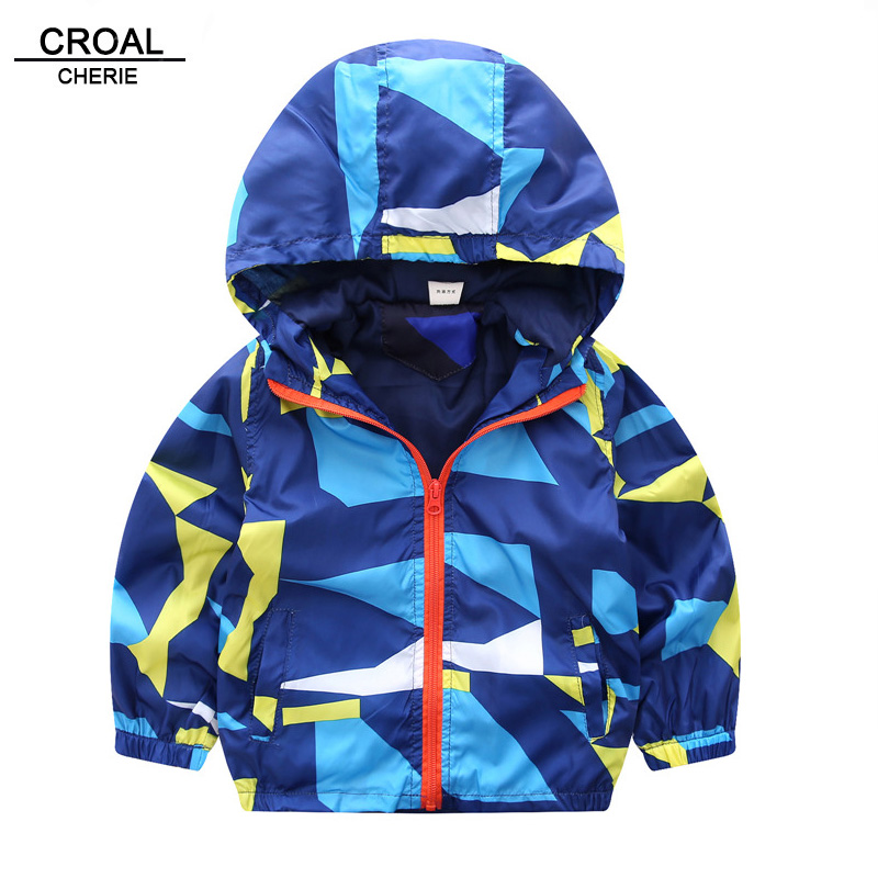 CROAL CHERIE 70-120cm Kids Jacket For Boys Windbreaker Spring Autumn Children Clothing Fashion Outerwear & Coats For Teenager
