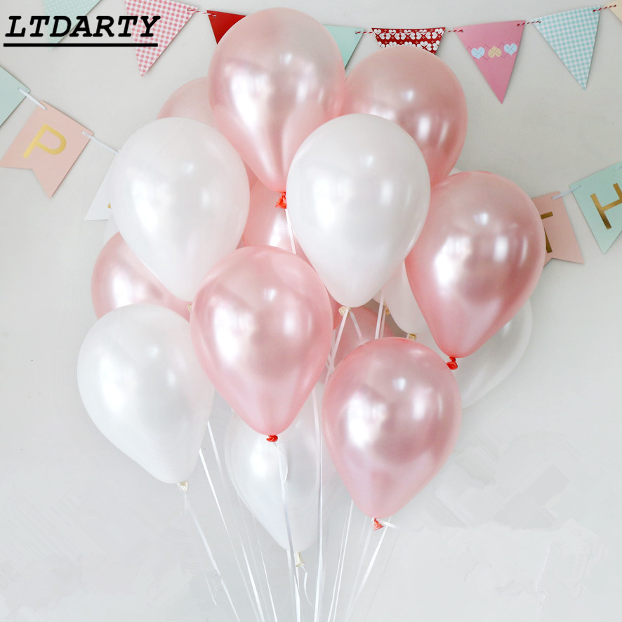 15pcs 3.2g Pearly Blue Pink Latex Balloons Baby Shower