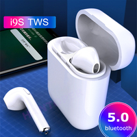 I9s Tws Wireless Earphone Earbuds 5.0 Bluetooth Headset Sport Invisible Earbud With MIC Gift Cover For All Smart Phone