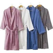 Bathrobe Men Winter Thick Warm Long Plus Size Towel Fleece Soft Nightgowns Bridesmaid Kimono Bath Robes Dressing Gown