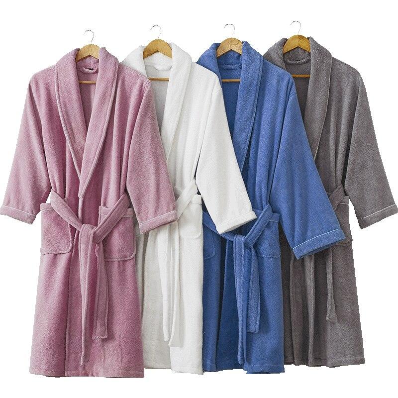 03dc063900a Achat Peignoir Hommes Hiver Chaud Épais Longues Peignoir Plus La Taille  Serviette Polaire Doux Chemises de Nuit Demoiselle D honneur Kimono  Peignoirs De ...