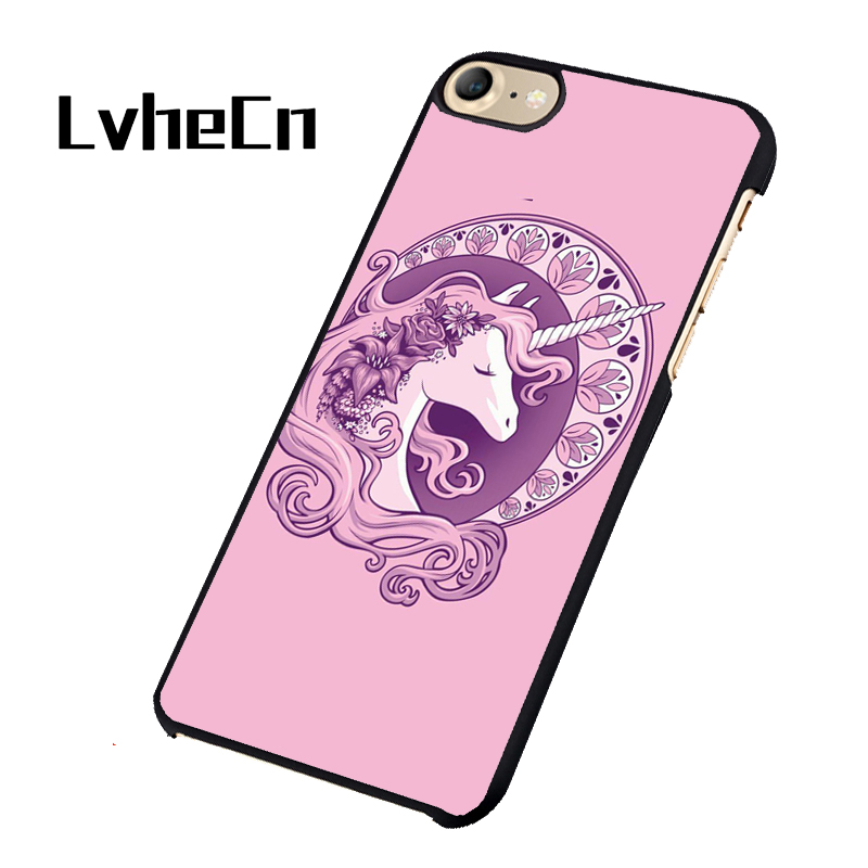 online store aa70b 4bfd6 LvheCn Purple Girly Pink Cute Unicorn phone case cover for iphone 5 5S SE 6  6S 7 8 PLUS X-in Fitted Cases from Cellphones & Telecommunications on ...