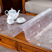 kitchen home crystal soft glass Dining anti scald waterproof transparent rectangular PVC table cloth cover mat placemat