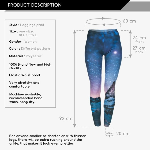 Women Girl Funny Leggings Beautiful Classical Joker Long Skinny Pants New 3D Starry Printed Pants