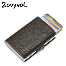 ZOVYVOL 2019 New Credit Card Holder RFID Blocking Wallet for Travel Aluminum Box Fashion Soft Leather Slim Case MEN