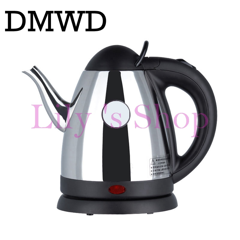 все цены на DMWD 220V 1000w 0.8L Split Style Stainless Steel Quick Heating water Auto Electric Kettles Electric tea Pot Strong Packing EU US онлайн