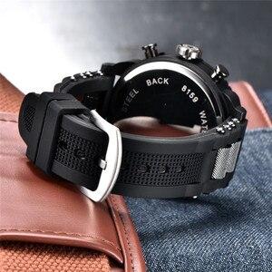 Image 5 - Dropshipping New 6.11Big Mens Watch Sport Quartz Men Dual Display Wristwatches Waterproof Outdoor Multiple Time Zone Clock