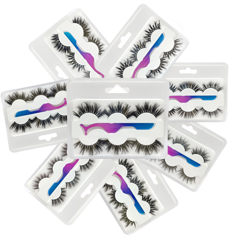Buzzme H Style 3D Faux Mink Lashes Synthetic Lashes With Tweezer Natural Lashes Popular Eyelashes Makeup
