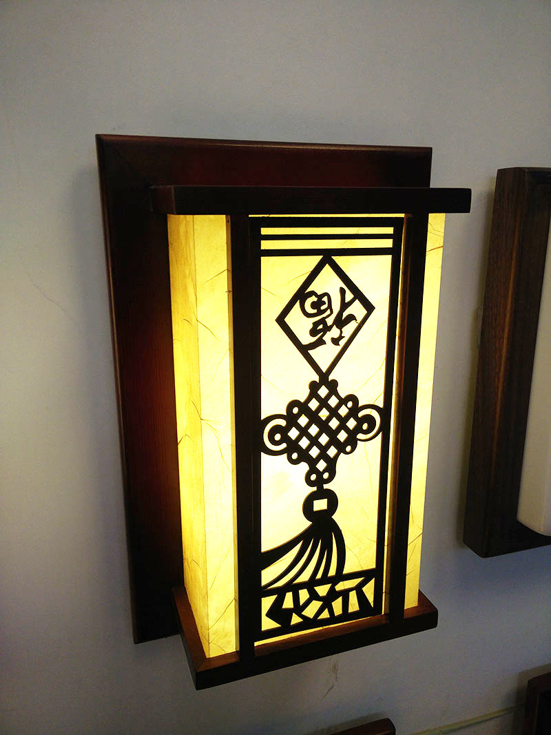 ̀ •́ Chinese style classical wooden wall lamp faux bed lamps living ...