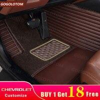 На заказ автомобильные коврики роскошные кожаные водостойкие Chevrolet Cruze Captiva Camaro AVEO TRAX Epica Cavalier Spark авто автомобильный коврик