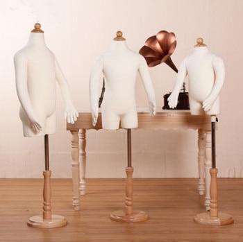 Fashion Dressmaker Tailor Mannequin Fabric Covered Half Body Torso Female Mannequin