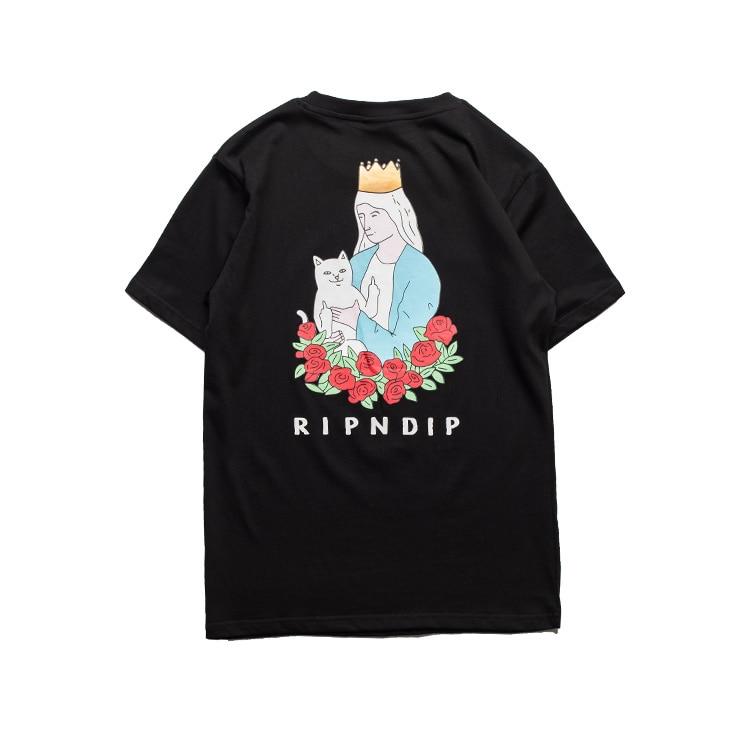 a2390cf4b030a0 Ripndip T Shirt Men Women Pocket Cat Series Skateboard Rip n Dip Tshirts  Fashion Short Sleeve O Neck Tee Print Ripndip T Shirt-in T-Shirts from Men's  ...