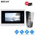 JERUAN 1.0MP 720P AHD HD Обнаружение движения 7 ''цифровой видеодомофон разблокировка домофон система Запись монитор + IR мини камера