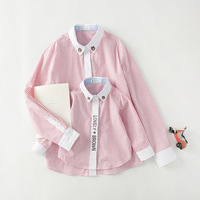 New Spring And Summer 2017 Boys And Girls Familu Matching Outfits Striped Shirt