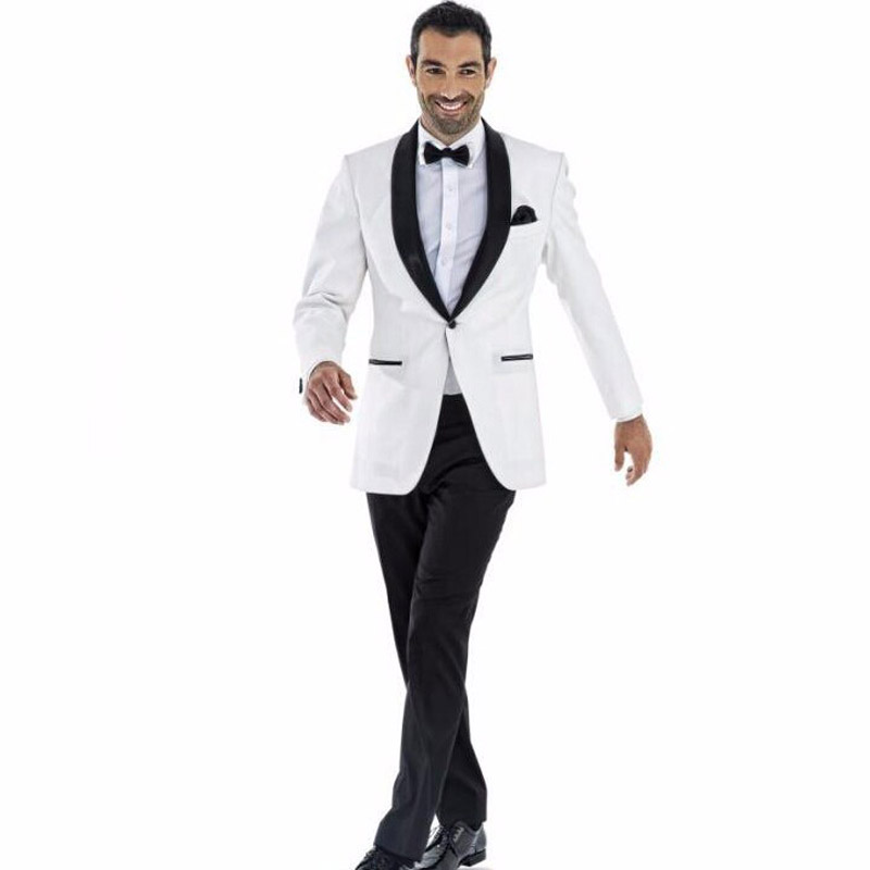 Black lapel white dinner jacket