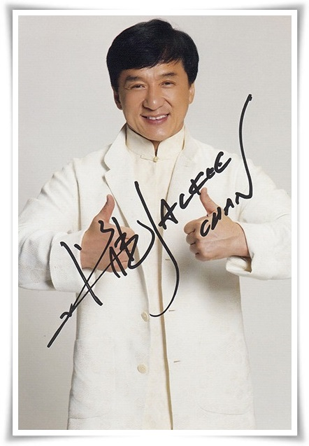 Jackie Chan autographed signed with pen photo 4*6 inches ...