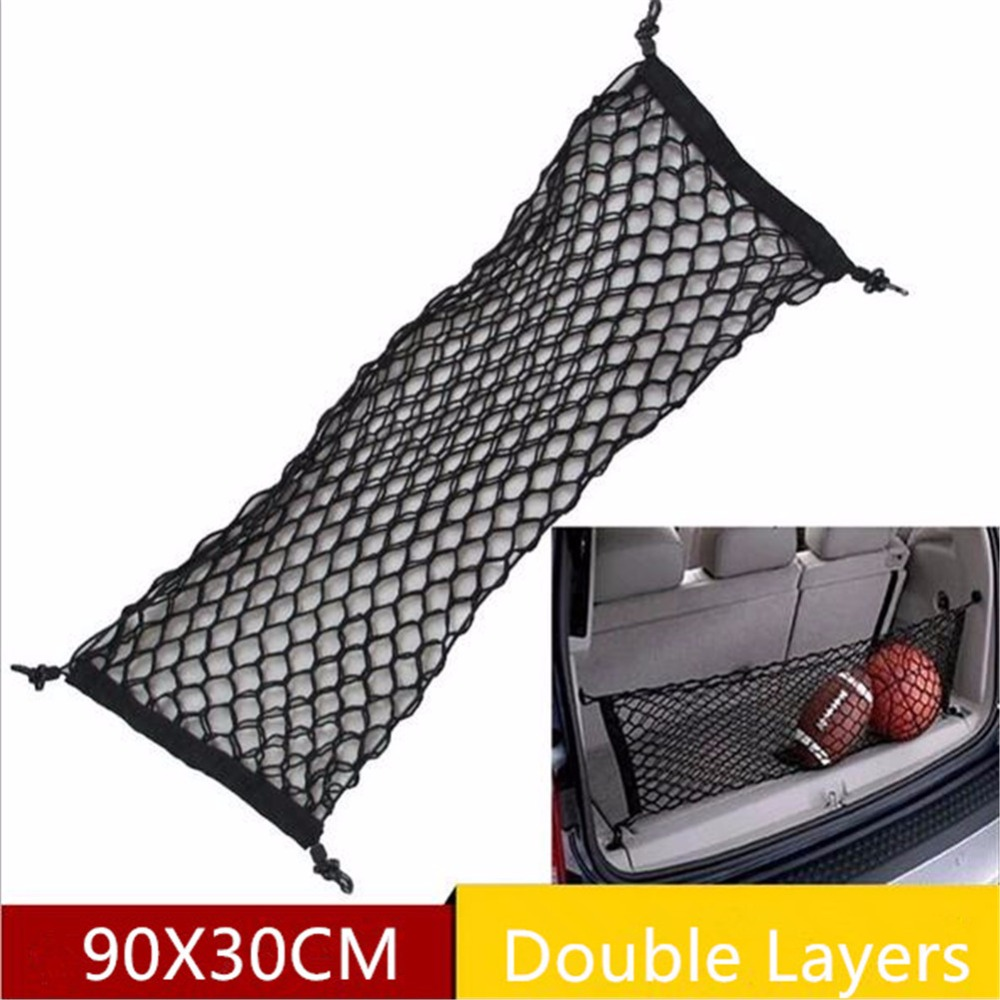 Car Storage Net Mesh Car Organizer Trunk Car Rear Cargo Organizer Elastic Luggage Carrie ...