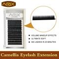 4pcs Camellia Eyelash Extension 0.07 Super Soft Volume Eye lash Mixed Length in One Line C Curl 3D-6D Makeup Effect