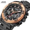Marca de Luxo Original JEDIR Relógios Dos Homens Do Esporte Ao Ar Livre Militar Assista Men Casual Banda Silicone relógio de Quartzo Grande Mostrador do Relógio de Pulso 2016