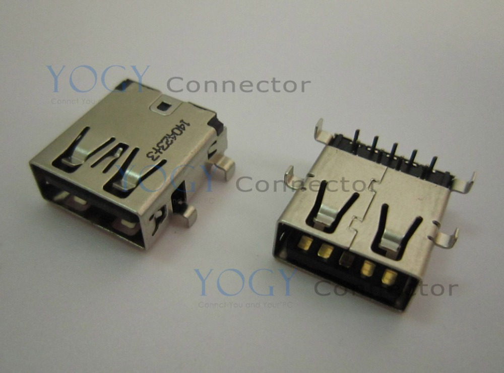 10pcs Female usb3.0 connector fit for Asus N56V8 N76V8 Series usb board and other laptop motherboard USB 3.0 Jack socket