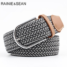 RAINIE SEAN Braided Belt For Women Men Knitted Male Female Belts Unisex Casual Pin Buckle Belt For Trousers мужской ремень braided belt pin hhm 021