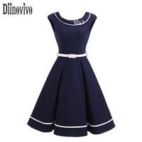 New Summer Audrey Hepburn Style 50s 60s Robe Vintage Big Swing Dress Patchwork Women Casual Retro