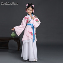 2019 new traditional ancient clothing boys chinese folk dance dance costumes girls children child tang dynasty costume hanfu