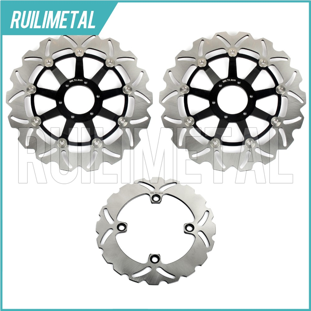 Front Rear Brake Discs Rotors for Honda CBR 600 F FX FY 99 00 CBR600F4 SuperSport F4 CBR900RR CBR 900 RR Fireblade N P 92 93 2001 2002 2003 2004 2005 2007 full set motorcycle new front rear brake discs rotors for honda cbr600f cbr 600 f supersport f4