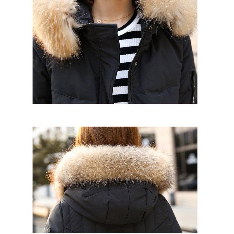 Mode White Damen Unten Jacke Oberbekleidung Winter Verdicken Warme black gray Lange Mit Ente Weiße Parkas Neue Aa457 2018 Mäntel Kapuze Frauen vXwZUZ