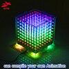 zirrfa high quality 3D mini light cubeed diy kit/set production modules 8x8x8 gift learning kit led diy electronic