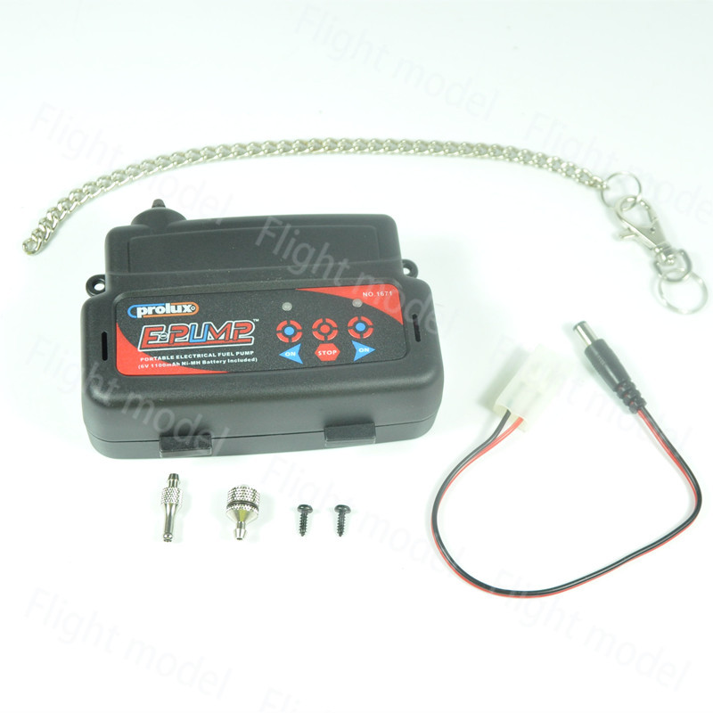Prolux 1671 Portable Electric+l Fuel Pump 6V 1100mAh Ni-MH Battery Included for Gasoline & Nitro Engine high quality full metal methanol gasoline electric pump for fuel helicoter rc airplanes rc boat fuel metal pump free shipping