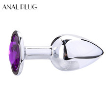 ANAL PLUG Butt Plug Stainless Steel Buttplug Sex Toys for Woman Men Erotic Tapon Anal Jewel Huge Plugs S M