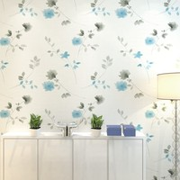 PAYSOTA Modern Flower Romantic Non Woven Wallpaper Bedroom Guest Dining Room TV Background Modern Wall Paper