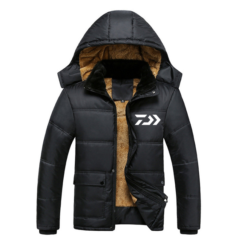 2019 NEW DAIWA clothes Plus velvet Autumn And Winter DAWA Keep warm thicken outdoors sports man