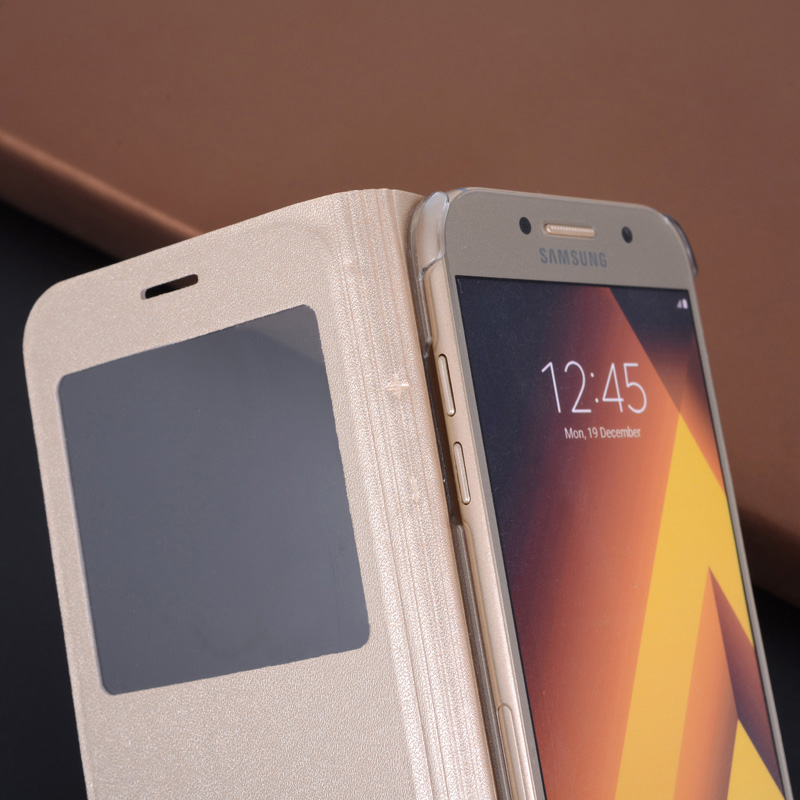 360 Flip Cover Kulit Telepon Kasus Untuk Samsung Galaxy A3 A5 A7 2017 - Aksesori dan suku cadang ponsel - Foto 5