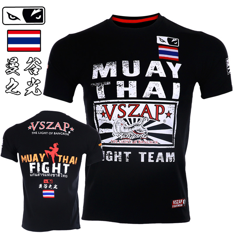 VSZAP MMA Boxing Sports Bangkok Muay Thai Fighting Fitness Elasticity Tights Trousers Sweatshirts Boxing Clothing Muay Thai