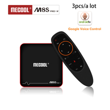 Wholesale M8S PRO W Android TV Box 2.4G Voice Control S905W Quad Core 2GB RAM DDR3 16GB Smart TV Box WiFi 4K H.265 Set Top Box