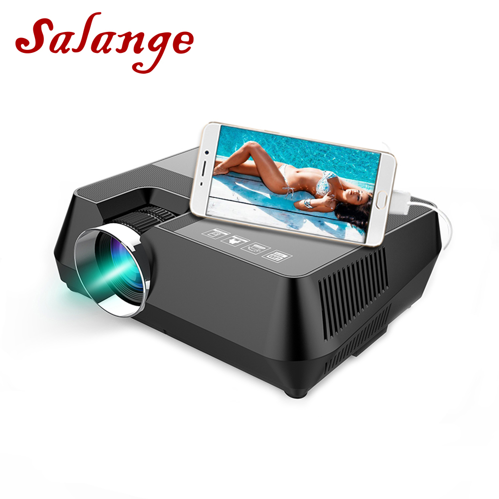Salange S8 720P HD Projector 1600 Lumens HDMI USB AV VGA Home Theater Projetor Video Beamer Support Wired Sycn LED Projecteur lowest price portable mini led projector hdmi usb pc beamer projector 320x240 video projecteur for children gift game projetor