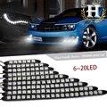 2X DRLDriving 6-20led Flexível luz de Circulação Diurna Carro LEVOU flexível lâmpada para Audi A4 B5 A6 Q5 Q7 A3 A5 BMW E46 E39 Acessórios