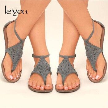 Women Flat Sandals Shoes 2018 Flip Flops Comfort Summer Shoes Plus Size Women Thong Sandals New римские сандали