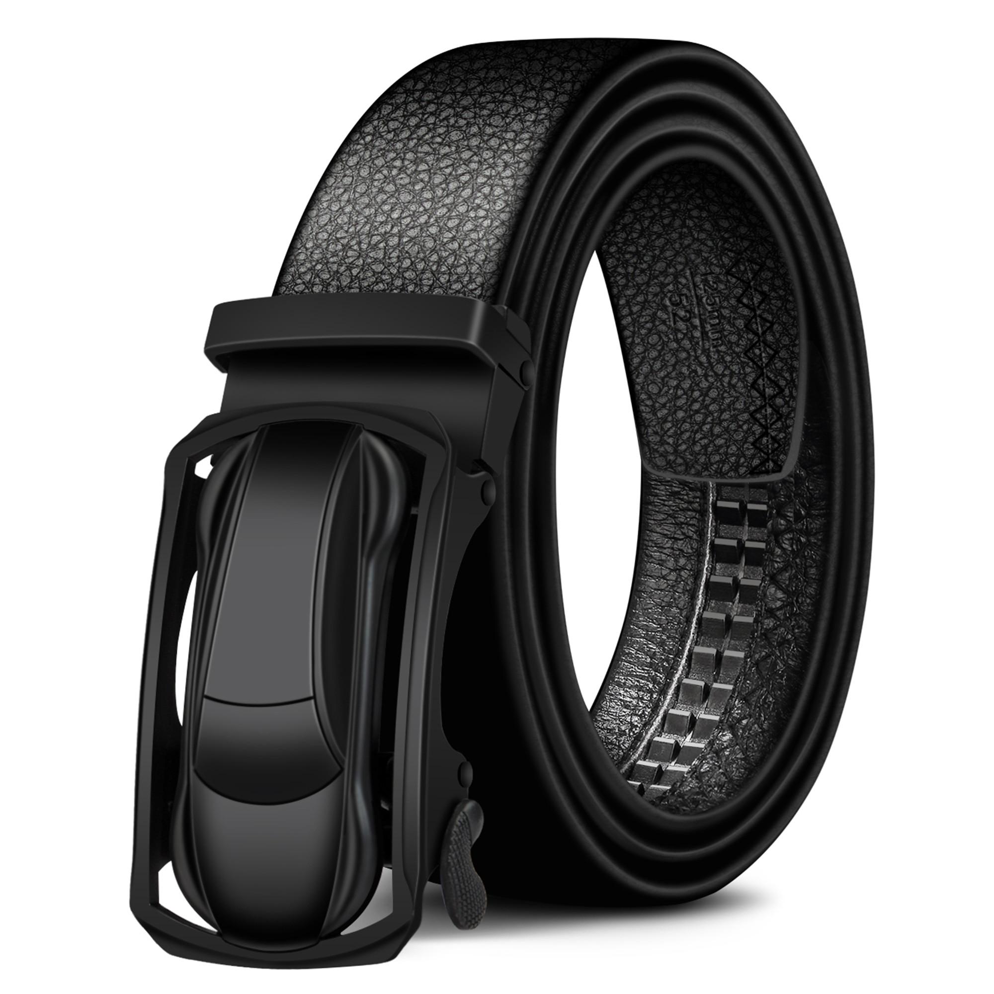 Image 2 - BISON DENIM Genuine Leather Male Belt Black Luxury Strap Belts for Men Cowskin Classic Fashion Pin Buckle men belt N71396Mens Belts   -