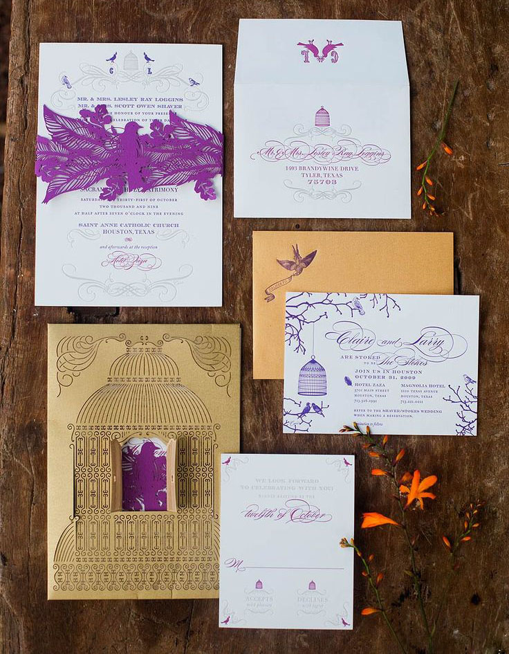 Luxury Wedding Invitations Laser Cut Invitation With Belly Band Birdcage Monogram On Aliexpress Alibaba Group