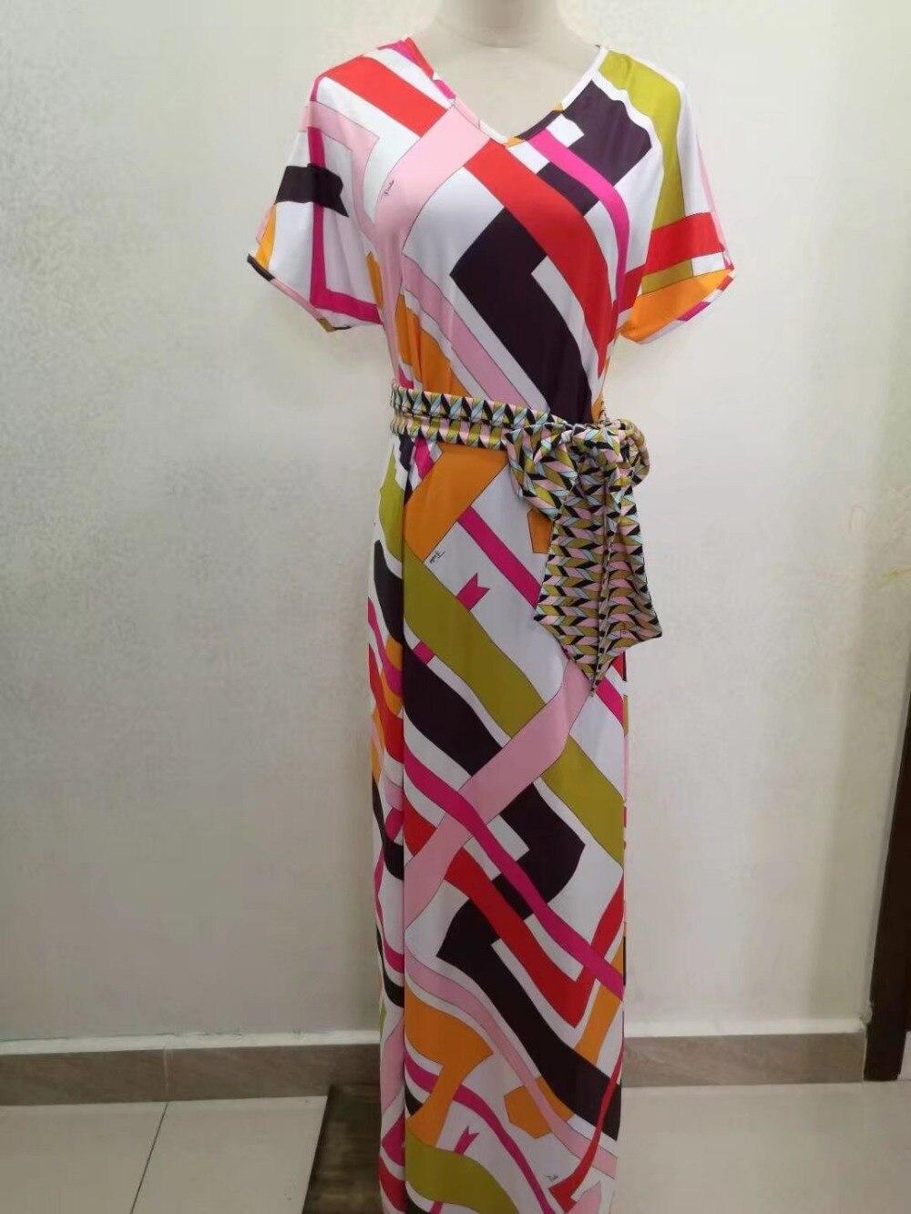 Géométrie Impression Spandex Designer Robe Femmes 2017 Maxi Manches Élastique De À Jersey Nouveau Xxl Luxe Coloré Soie Marques Courtes yIb6vY7fg